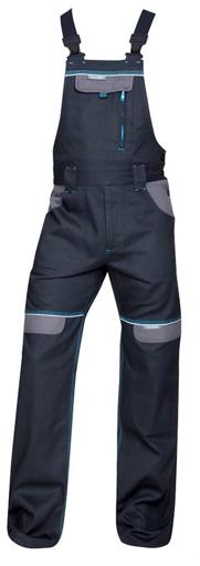 Obrázok z COOL TREND Pracovné nohavice s trakmi čierne predĺžené