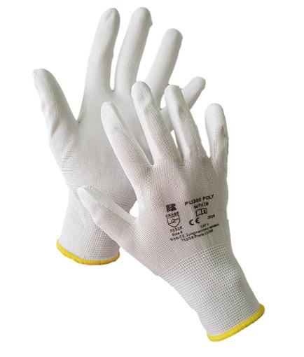 Obrázok z BAN POLY PU300 03133 Máčané pracovné rukavice biele
