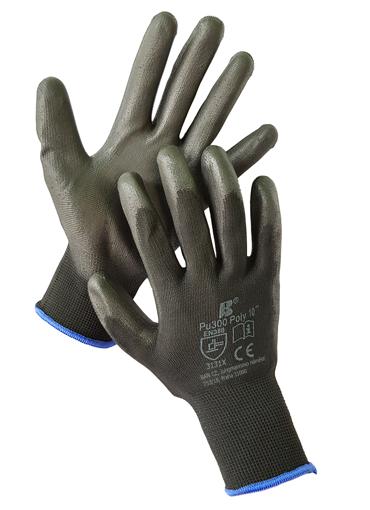 Obrázok z BAN POLY PU300 03134 Máčané pracovné rukavice čierne