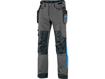 Obrázok z CXS NAOS Montérkové nohavice šedo-čierne, HV modré doplnky