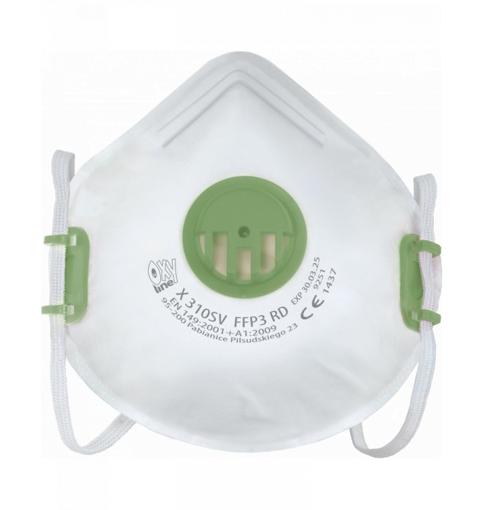 Obrázok z OxyLine X310 SV FFP3 Respirátor tvarovaný s ventilom