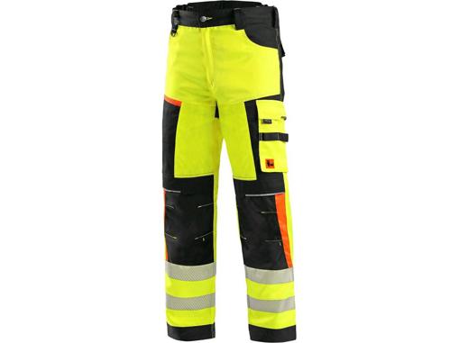 Obrázok z CXS BENSON Výstražné nohavice žlto-čierne