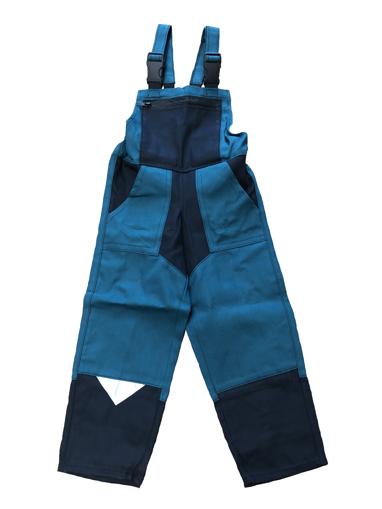 Obrázok z M+P DAVID Detské pracovné nohavice s trakmi zeleno / čierne