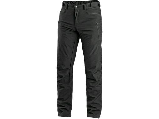 Obrázok z CXS AKRON Pánske nohavice do pása, softshell, čierne