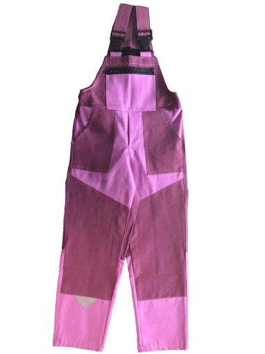 Obrázok z M+P DAVID Detské pracovné nohavice s trakmi ružové new