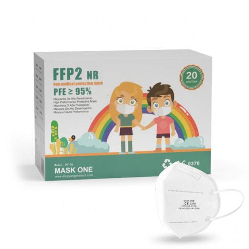 Obrázok z BOX: Mask One DY-06 dětský respirátor FFP2 NR bílý