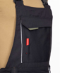 Obrázok z ARDON URBAN Pracovné nohavice s trakmi čierno-šedé skrátené