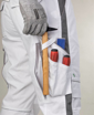 Obrázok z ARDON URBAN Pracovné nohavice do pása biele skrátené