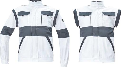 Obrázok z Cerva MAX NEO Pracovná montérková bunda 2v1 bielo / sivá
