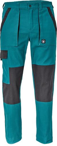 Obrázok z Cerva MAX NEO Pracovné nohavice do pasu zeleno / čierne