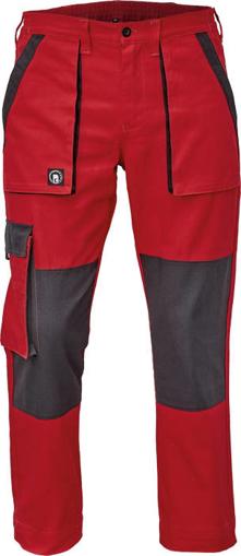 Obrázok z Cerva MAX NEO Pracovné nohavice do pasu červeno / čierne