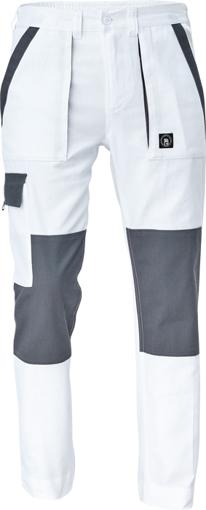 Obrázok z Cerva MAX NEO Pracovné nohavice do pasu bielo / sivé