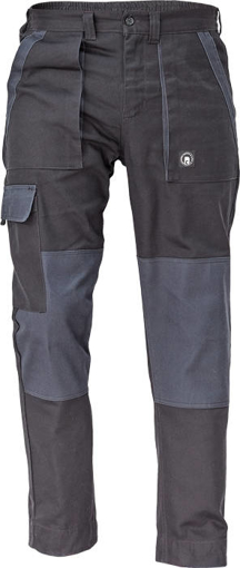 Obrázok z Cerva MAX NEO Pracovné nohavice do pasu čierno / sivé