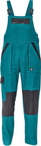Obrázok z Cerva MAX NEO Pracovné nohavice s trakmi zeleno / čierne