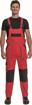 Obrázok z Cerva MAX NEO Pracovné nohavice s trakmi červeno / čierne