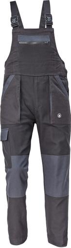 Obrázok z Cerva MAX NEO Pracovné nohavice s trakmi čierno / sivé