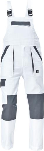 Obrázok z Cerva MAX NEO Pracovné nohavice s trakmi bielo / sivé