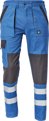 Obrázok z Cerva MAX NEO REFLEX Pracovné nohavice do pásu modro / čierne