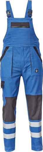 Obrázok z Cerva MAX NEO REFLEX Pracovné nohavice s trakmi modro / čierne