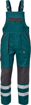 Obrázok z Cerva MAX NEO REFLEX Pracovné nohavice s trakmi zeleno / čierne