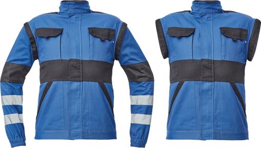 Obrázok z Cerva MAX NEO REFLEX Pracovná montérková bunda 2v1 modro / čierna