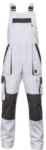 Obrázok z Červa MAX SUMMER Pracovné nohavice s trakmi bielo / šedej