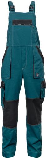 Obrázok z Červa MAX SUMMER Pracovné nohavice s trakmi zeleno / čierne