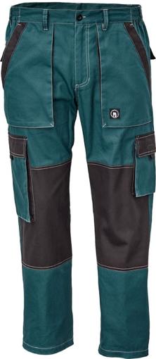Obrázok z Červa MAX SUMMER Pracovné nohavice do pasu petrolejová / čierna