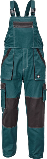 Obrázok z Červa MAX SUMMER Pracovné nohavice s trakmi petrolejová / čierna