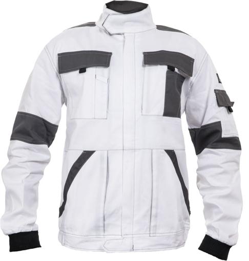 Obrázok z Červa MAX SUMMER Pracovná montérková bunda bielo / šedá