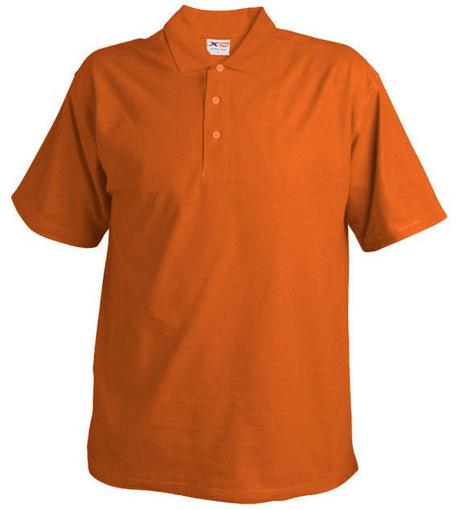 Obrázok z Pánska pique polokošeľa 220 oranžová
