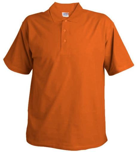 Obrázok z Pánska hladká polokošeľa Chok 190 oranžová