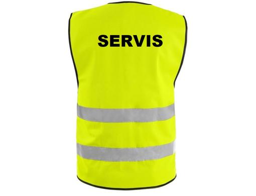 Obrázok z Reflexná vesta žltá - SERVIS