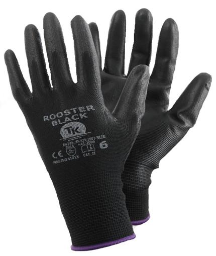 Obrázok z T-K ROOSTER Pracovné rukavice čierne